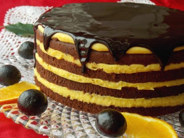 Шоколадно апельсиновый торт рецепт с фото