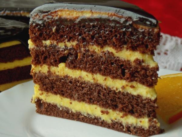 Шоколадный торт с апельсиновым курдом