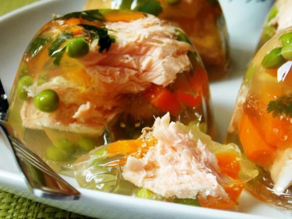 Заливное из рыбы пошаговый рецепт с желатином