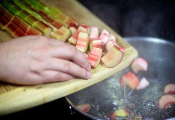 Как сварить компот из ревеня и яблок