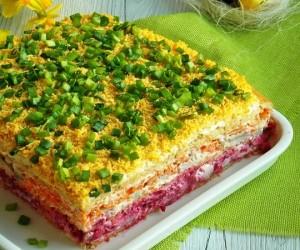 Простые вкусные салаты на праздничный стол рецепты
