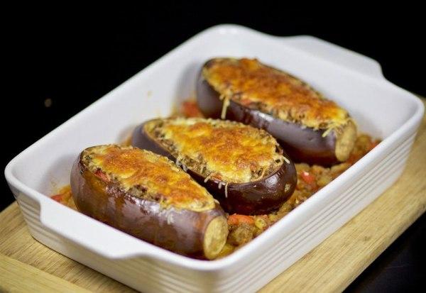 Фаршированные баклажаны в духовке рецепт с фото