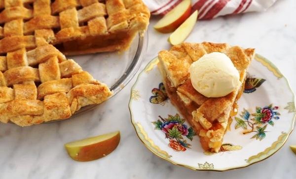 Насыпной яблочный пирог видео рецепт