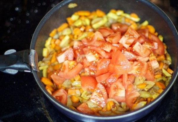 Тушим овощи отдельно