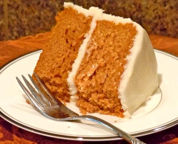 Пирог тыквенный с творожным кремом рецепт