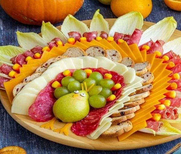 Красивая нарезка из овощей на праздничный стол