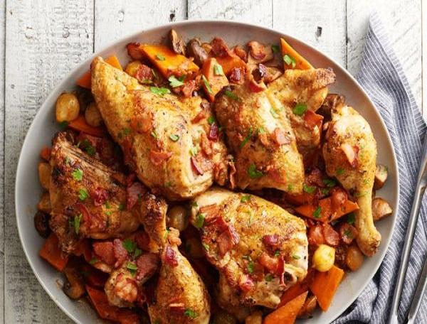 Жаркое в мультиварке из курицы с картошкой