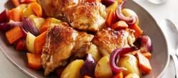 Жаркое в мультиварке из курицы с грибами и картошкой