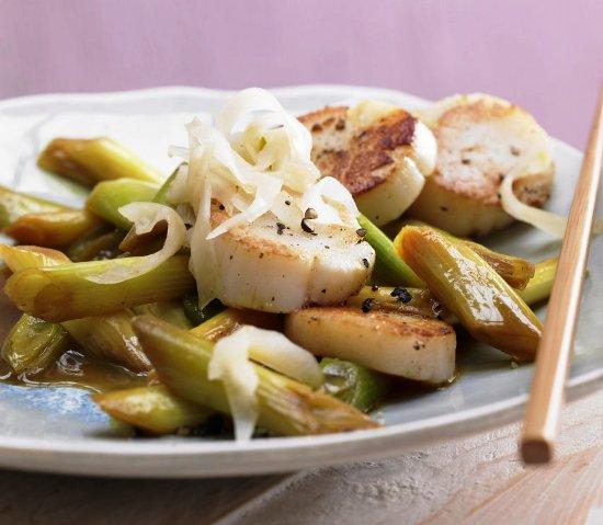 Жареные морские гребешки с лимоном и имбирем фото рецепт Коломна