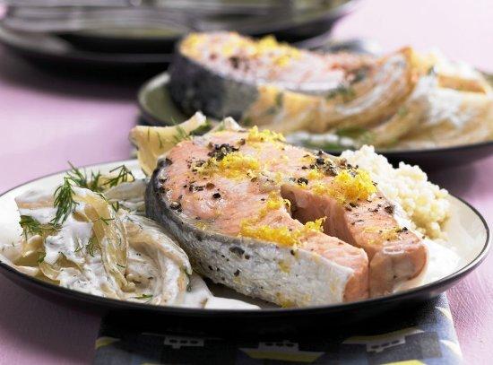 Маринованный лосось на подушке из фенхеля фото рецепт Коломна